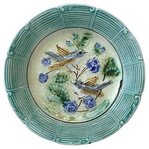 Majolica Birds & Flowers Plate