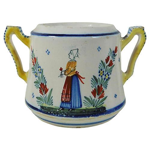 Quimper Handled Pot