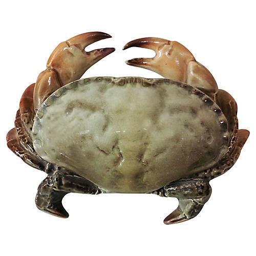 Majolica Crab Box