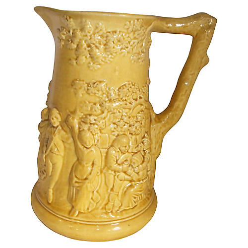 Yellow Majolica Pitcher
