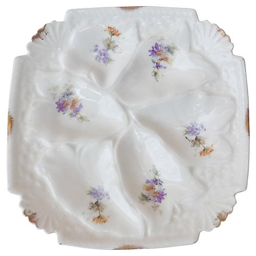 Square Porcelain Oyster Plate