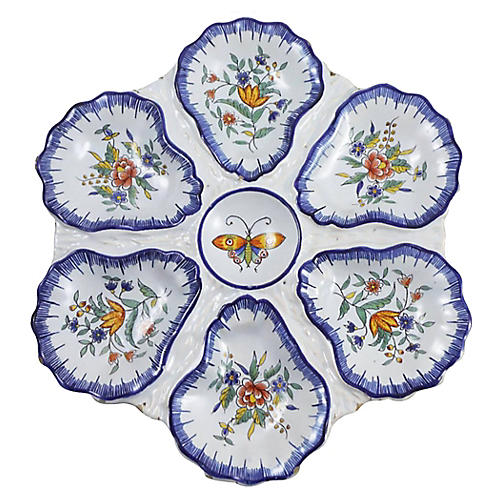 Faience Oyster Plate Desvres