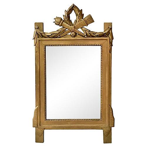 Gilded Wood Mirror Style Louis XVI