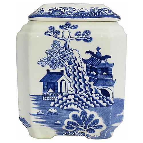 Mason's Blue Willow Tea Caddy