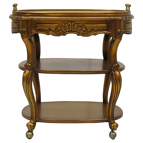 3-Tier Giltwood Serving Cart