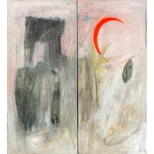 Abstract Brooklyn w/ Moon by Hammond