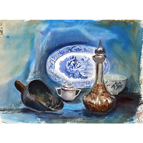 Still Life with Plate Watercolor