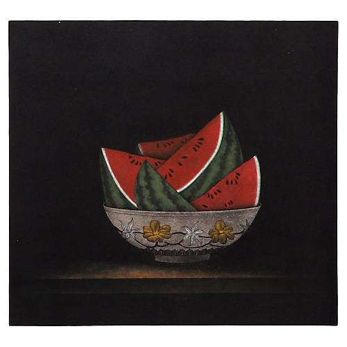 Watermelons in Bowl by Tomoe Yokoi