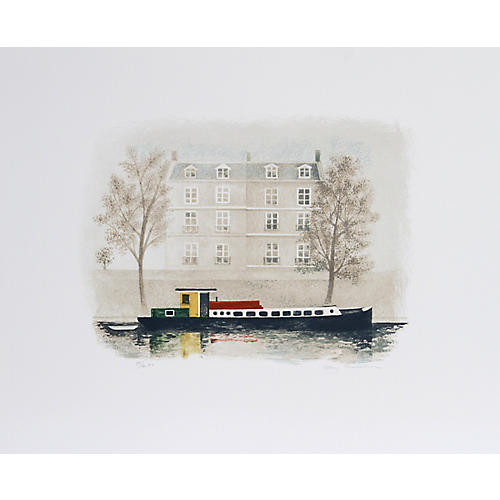 Paris Barge by Mary Faulconer