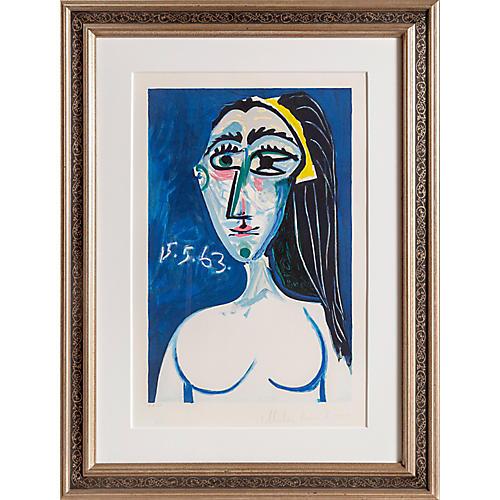 Buste de Femme Nue Face by Pablo Picasso