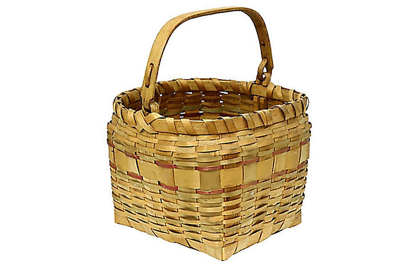 Maine Indigenous Swing-Handle Basket