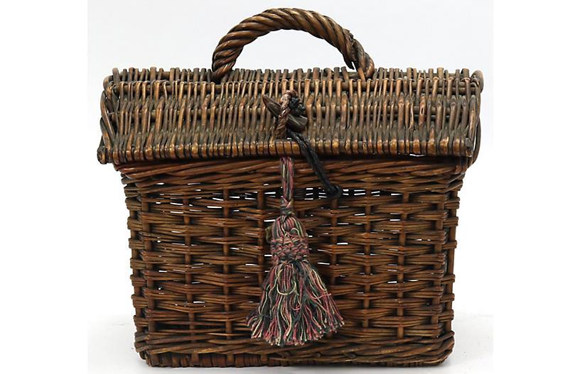 Antique French Ladies Market Basket