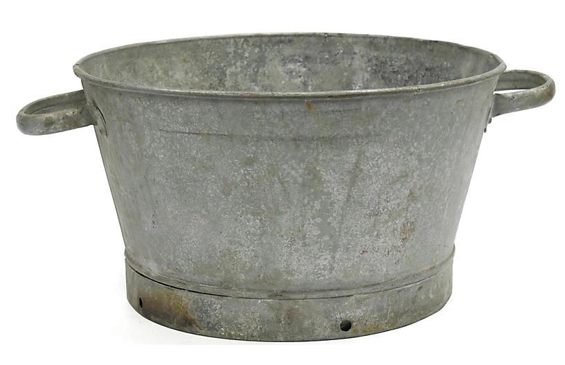 Antique Heavy Galvanized Tub