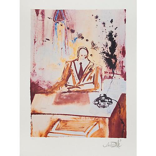 The Businessman by Salvador Dali, 1989