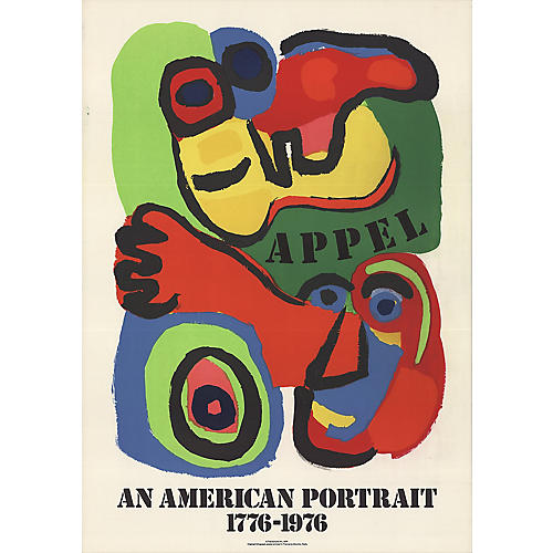 An American Portrait by Karel Appel