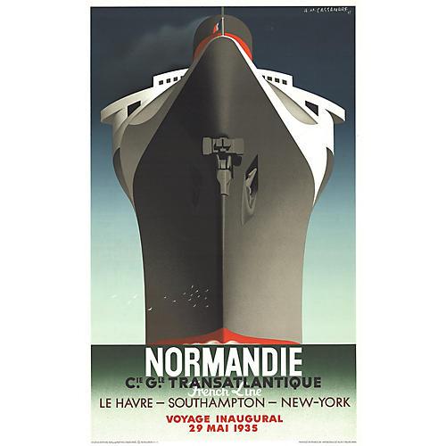 Normandie by A.M. Cassandre, 1979