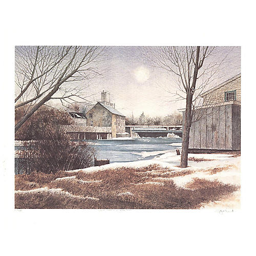The Mill in Winter by Dwight Baird