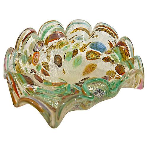 Murano Millefiori Glass Dish