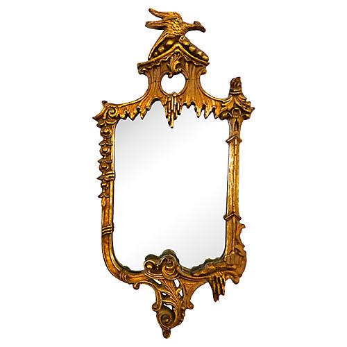 19th-C. Gilded Rococo-Style Mirror