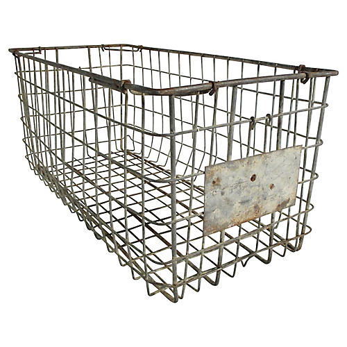 French Iron Oyster Basket