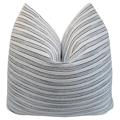 """24"""" Striped Belgian Linen Pillow"""