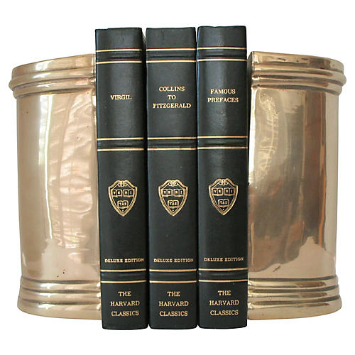 Column Brass Bookends