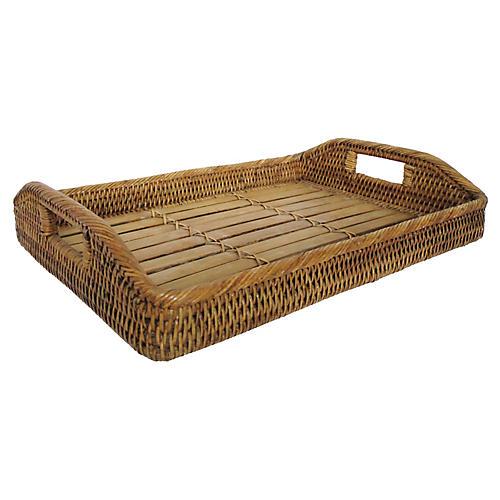 Woven Rattan Bamboo Tray
