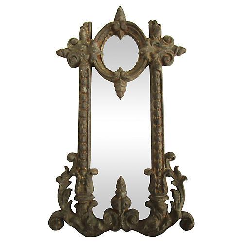 French Iron Fragment Mirror
