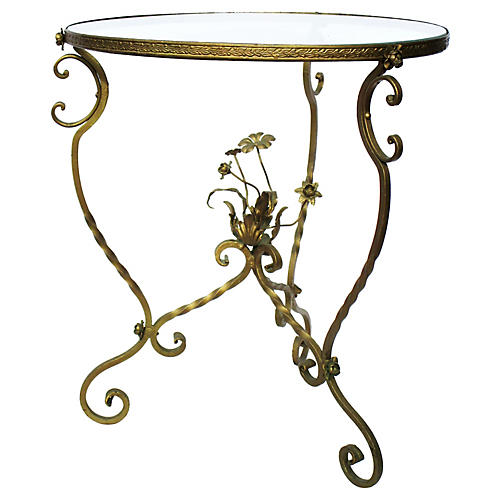 Antique French Brass Side Table