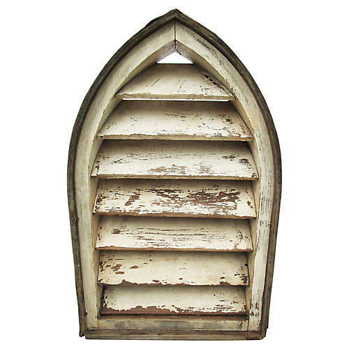 Antique French Arched Vent