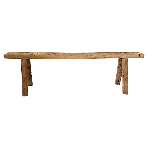 Antique Carved Shandong Bench