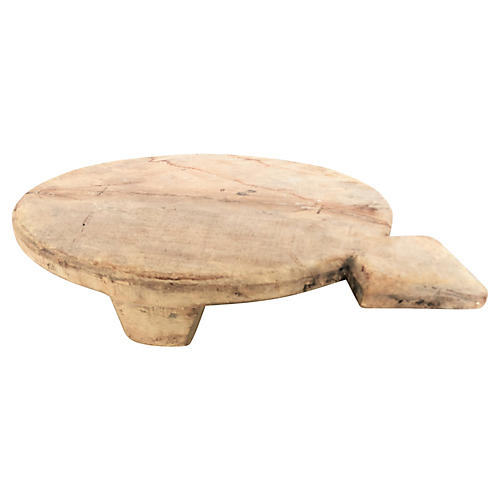 Carved Round Bread Board