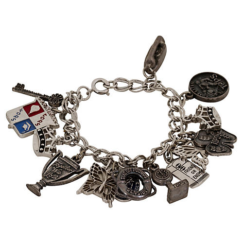Sterling Silver Multi-Charm Bracelet
