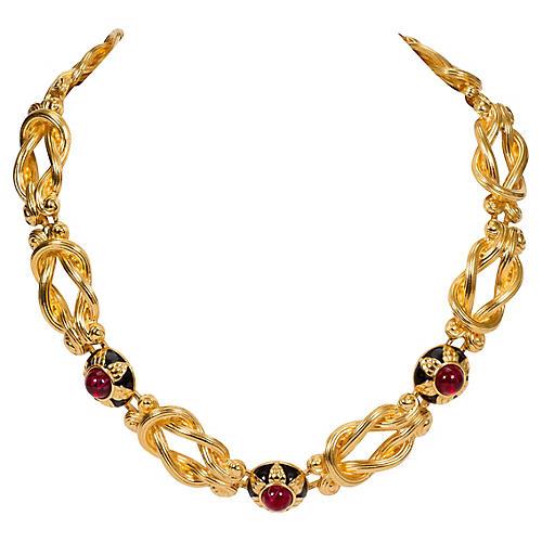 Fendi Gripoix Choker Necklace