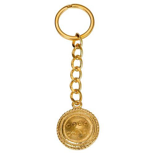 Coco Chanel Round Keychain