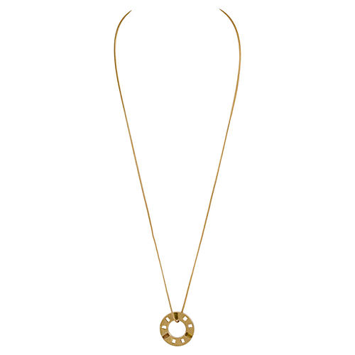 Givenchy Gold Disk Necklace w/ Stones