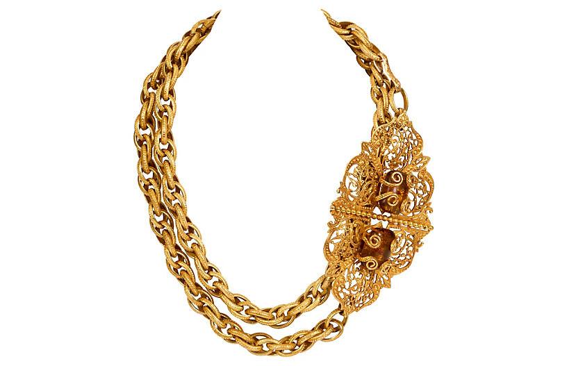 Dominique Aurientis Gold Necklace/Belt