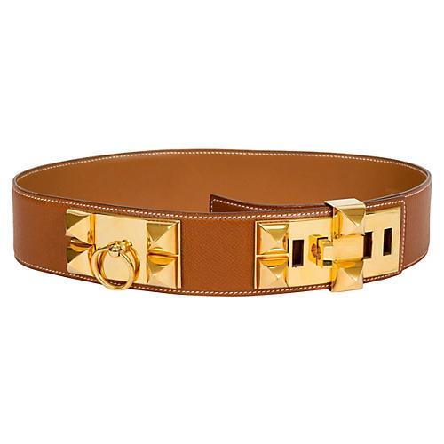 Hermès Collier De Chien Gold Belt