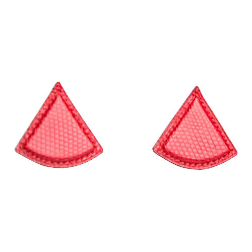 Hermès Red Lizard Triangular Earrings