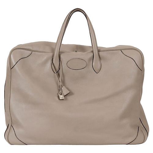 Hermès Etoupe Clemence Soft Suitcase