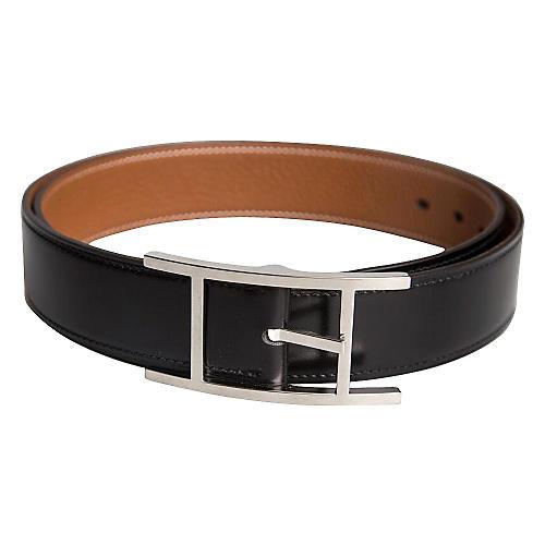 Hermès Black & Gold Classic Belt