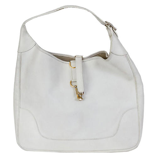 Hermès White Vache Leger Trim Bag