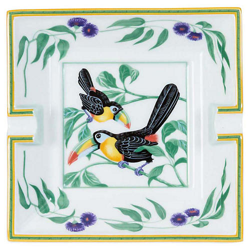 Hermès Le toucans Porcelain Ashtray