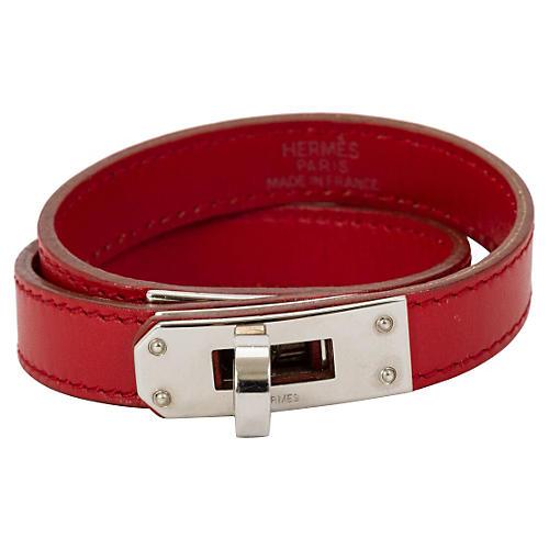 Hermès Kelly Double Red Bracelet