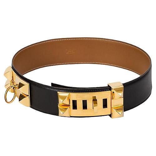 Hermès Black Collier de Chien Belt