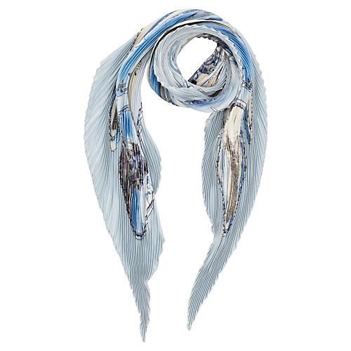 Hermès Gronland Pleated Scarf, Ledoux