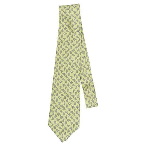 Hermès Light Green Knots Silk Tie