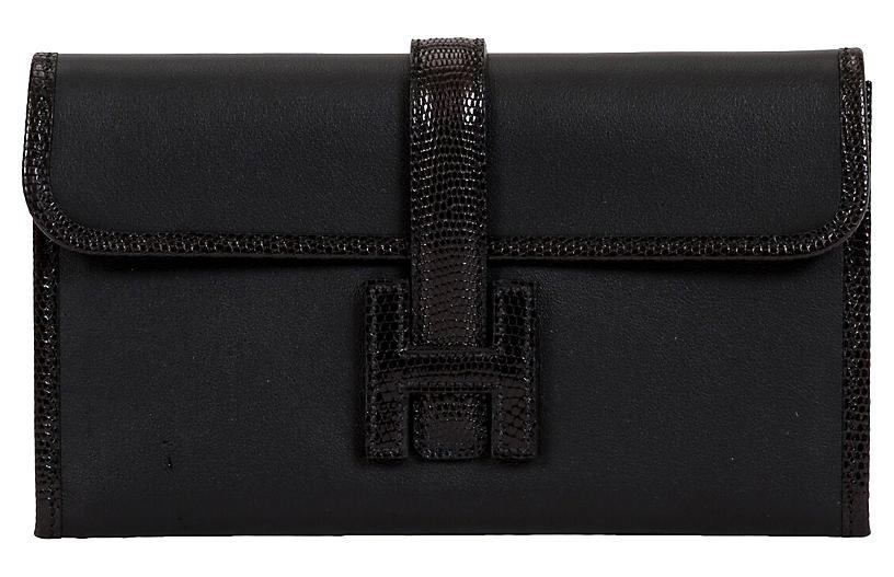 Hermès Rare Black Lizard/Swift Jige