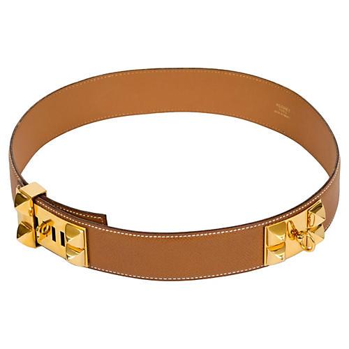 Hermès Gold Collier de Chien Belt