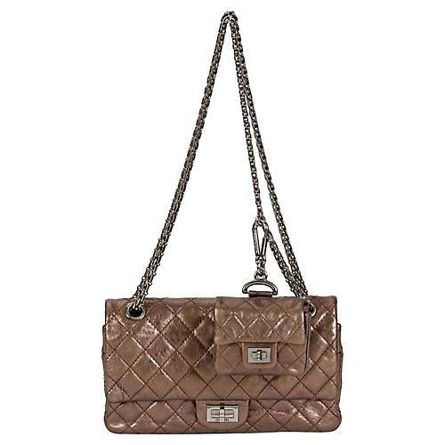 Chanel Bronze Double Flap w/ Charm